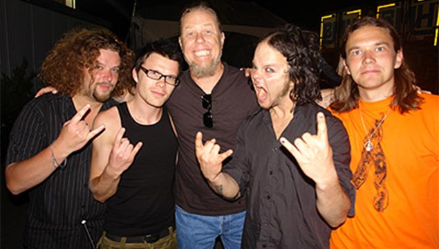 James Hetfield con i The Rasmus